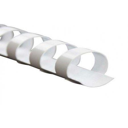 Kroužkový hřbet bílý plast pro vazbu 16mm, 101-130 listů, 100ks , obr. 1