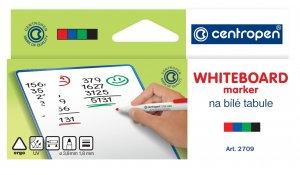 Značkovač stíratelný, Centropen 2709, sada 4 barev