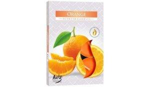 Vonná čajová svíčka Pomeranč 6 ks v krabičce