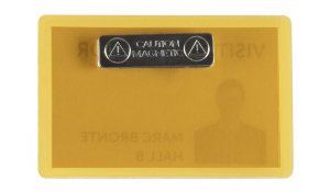 jmenovka samolaminovací, s magnetem, se štítky, PP, 66x100 mm, žlutá - 25 ks