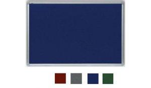 filcová tabule modrá 90x60 cm, ALU rám galvanizovaný stříbrem