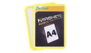 Magneto - magnetický rámeček A4, žlutý - 4 ks