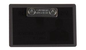 jmenovka samolaminovací, s magnetem, se štítky, PP, 66x100 mm, černá - 25 ks