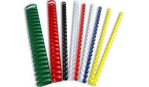 Kroužkový hřbet plast pro vazbu 38 mm, do 340 listů, 50ks