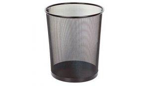 Koš odpadkový černý drátěný