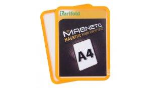 Magneto - magnetický rámeček A4, oranžový - 4 ks