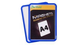 Magneto - magnetický rámeček A4, modrý - 4 ks