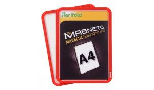 Magneto - magnetický rámeček A4, červený - 4 ks
