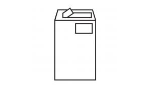 Poštovní taška C4 s okénkem a samolepící klopou, balení 10ks