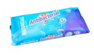 Antibakteriální ubrousky Naturelle na ruce 15ks s D-panthenolem