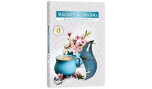 Vonná čajová svíčka Letní ráno 6 ks v krabičce