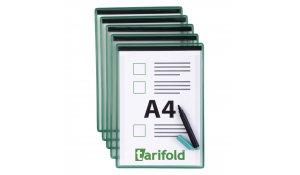 kontrolní kapsy magnetické, A4, zelené - 5 ks