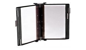 Sterifold - nástěnný kovový držák, antibakteriální, 10 kapes A4, otevřené shora, černé