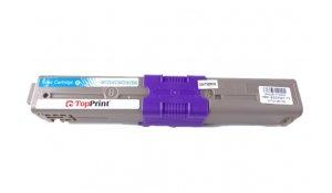 OKI 44469706 - kompatibilní toner C310, C510 Topprint modrá na 2000kopií