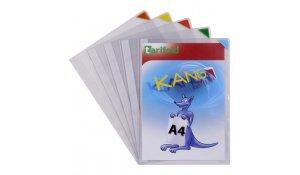 Kang Easy Clic - samolepicí kapsy, A4, nepermanentní, mix barev - 5 ks