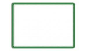 Magneto - samolepicí rámeček, A3, antireflex. PVC, zelený - 2 ks
