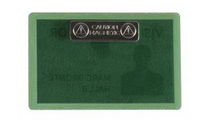 jmenovka samolaminovací, s magnetem, se štítky, PP, 66x100 mm, zelená - 25 ks