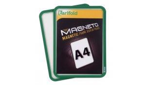Magneto - magnetický rámeček A4, zelená - 4 ks