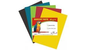Barevný papír A3, 80g, 100listů