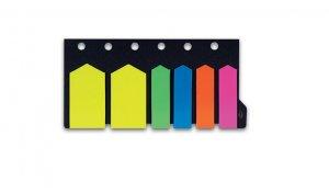 Samolepicí záložky CONCORDE šipky neon 12x44mm, 25x46mm, 6x20 listů