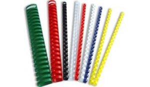 Kroužkový hřbet plast pro vazbu 12.5 mm, 56-80 listů, 100ks