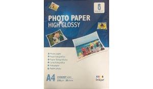 Fotopapír A4 lesklý, 230gr/m2, 20listů