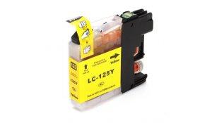 Brother LC125XL Y - kompatibilní cartridge žlutá, XL kapacita s novým čipem