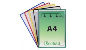 ochranné kapsy samolepicí, A4, otevřené na krátké straně, nepermanentní, mix barev - 5 ks