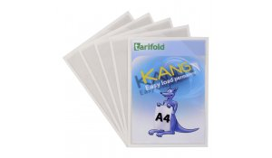 Kang Easy Load - samolepicí kapsy, A4, permanentní, transparentní - 5 ks