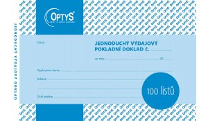 Výdajový doklad A6, jednoduchý, 100 listů