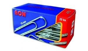 Spony 75mm 25ks aktové RON