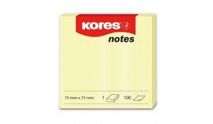 Bloček samolepící Kores notes, 75 x 75mm