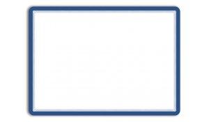 Magneto - samolepicí rámeček, A3, antireflex. PVC, modrý - 2 ks