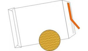 Obálky neroztrhnutelné s křížovým dnem, samolepicí klopa, rozměr B4, balení 10ks