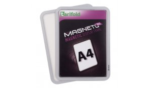 Magneto Solo - magnetický rámeček A4, stříbrný - 4 ks