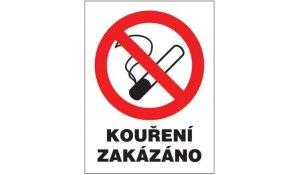 Tabulka Kouření zakázáno