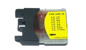Brother LC-1100Y - kompatibilní cartridge, LC-980Y, LC-1100Y